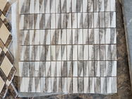 Modern Marble Mosaic Wall Tile , 300 X 298mm Sheet Natural Stone Mosaic Tile