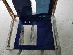 Dark Blue Solid Stone Countertops 2.5 G / Cm3 Bulk Density 3250 X 1650mm Max Size