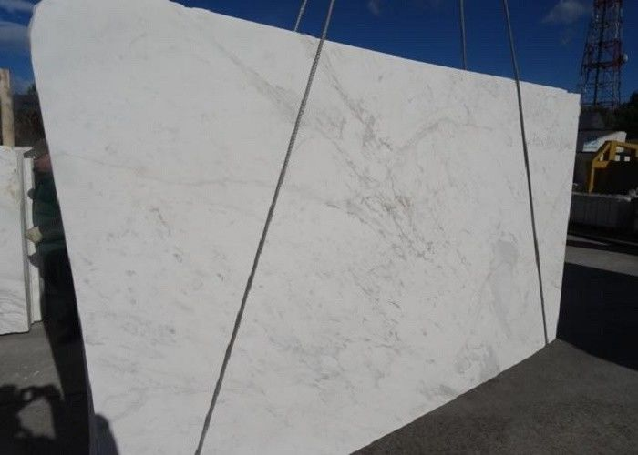 Classic White Solid Natural Stone Slabs 100% Natural Marble Material