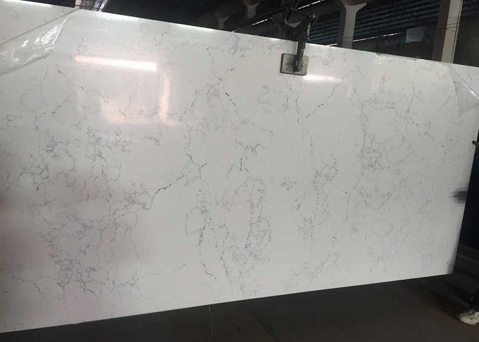 Colorful Quartz Countertop Slabs , Kitchen / Bathroom Natural Stone Slabs
