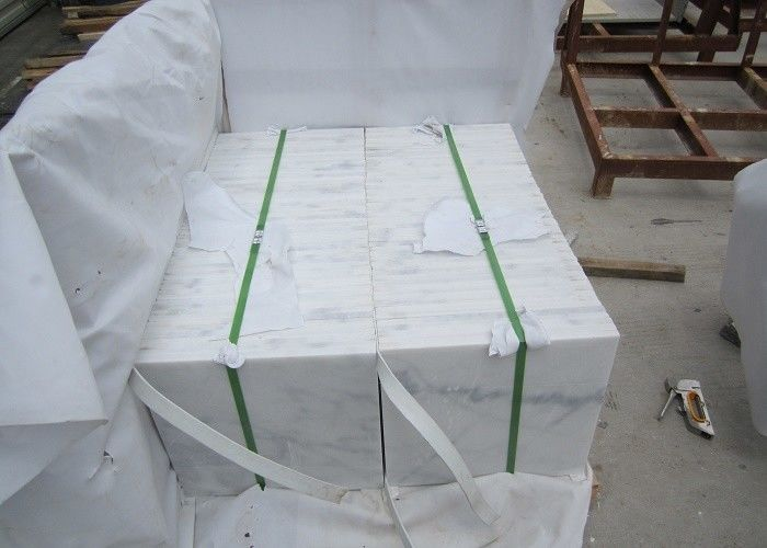 White Natural Marble Tile Different Size Optional Polished Surface