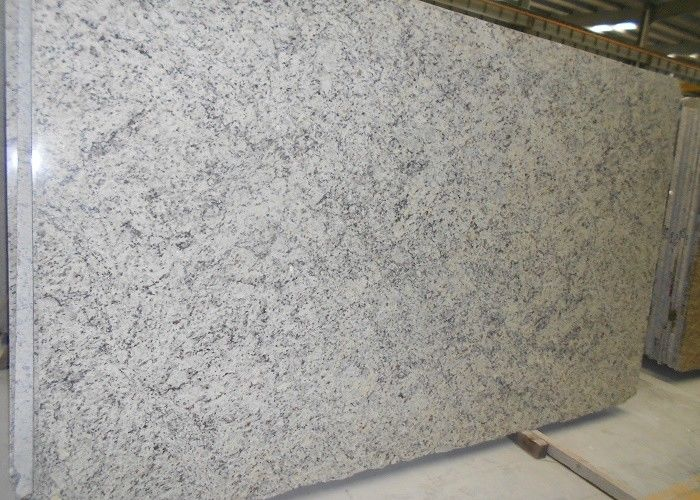 White Bianco Romano Granite Countertops , Solid Granite Bath Countertops