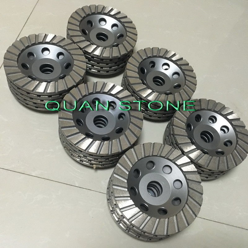 Ripple Cup Wheel Diamond Cup Wheel Aluminum Back Resin For Polishing