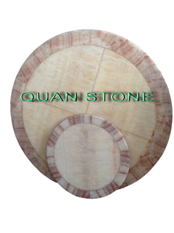 Waterproof Marble Stone Countertops / Cultured Marble Vanity Tops For Restaurant